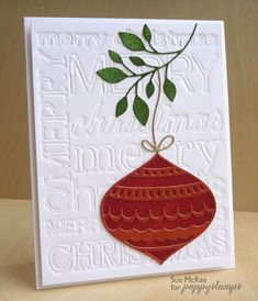 Poppystamps 1276 Retro Ornaments wafer thin craft die made from steel. Homemade Christmas Cards, Handmade Christmas, Homemade Cards, Christmas Crafts, Christmas Ideas, Christmas Letters, Felt Christmas, Winter Christmas, Silver Christmas Decorations