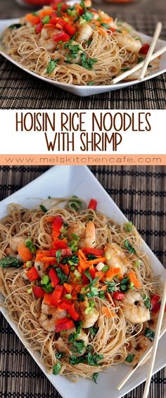 These Hoisin Rice Noodles with Shrimp are a quick, delicious, 30-minute dinner solution!