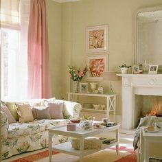 Bon A Rosy Home. Country Style Living RoomShabby Chic Living RoomRomantic ...