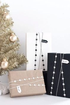 Star Garland Gift Wrap DIYwomansday