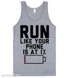 maybe you need a little help with your workout motivation, let this shirt be that thing. This makes a great fitness shirt while you're at the gym. It's also the perfect gift for phone obsessed workout buddy. Funny Shirt Sayings, Sarcastic Shirts, Shirts With Sayings, Funny Shirts, Shirt Quotes, Funny Running Shirts, Humor Quotes, Fitness Memes, Fitness Motivation