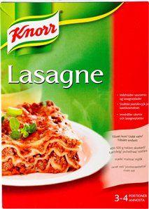 Lasagne pakkaukset