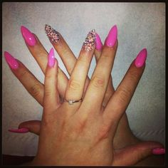 Arylic pink with swarvoski