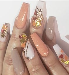 Beautiful Nail Trends and Designs to Try Beautiful Nail Trends and Designs to Try - charming acrylic nail designs to copy right now 113 Fall Acrylic Nails, Autumn Nails, Acrylic Nail Art, Spring Nails, Winter Nails, Summer Nails, Cute Nails, Pretty Nails, My Nails