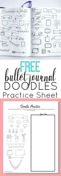 Free Bullet Journal Doodles Printable Practice Sheet What's more fun than doodling in your bullet journal? If you're anything like me, you will love this practice sheet and find a good use for the doodles included. Bullet Journal Doodles, Bullet Journal Printables, Bullet Journal Spread, Bullet Journal Layout, My Journal, Bullet Journal Inspiration, Bullet Journal Labels, Bullet Journal Frames, Bullet Journal Ideas Templates
