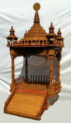 Unique Design Wooden Handcrafted Temple Mandir For Puja At Home By A. Dahya