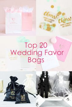 Find the best bags for your wedding favors! From personalized gift bags to paper treat bags, we've got you covered.