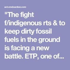 """The fight f/indigenous rts & to keep dirty fossil fuels in the ground is facing a new battle. ETP, one of the cmpies behind DAPL, is nearly finished constructing the Trans-Pecos fracked gas pipeline in W Texas. If completed, it will destroy hist Native sites & environmentally sensitive areas, deplete drinking water & release massive quantities of greenhouse gas emissions."" Click f/details & SIGN/share petition to tell Pres Obama to stop the Trans-Pecos pipeline."