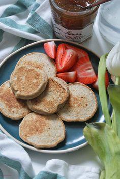 Lekki brzusio.: Wegańskie, bezglutenowe placuszki bananowe Gluten Free, Vegan, Breakfast, Sweet, Food, Per Diem, Glutenfree, Meal, Eten