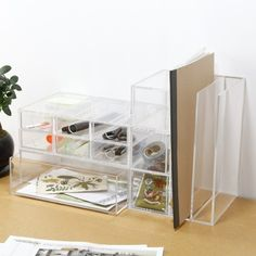 Acrylic Case 3 Drawer Unit from Muji... to match the other Muji acrylic I have on my desk. :)