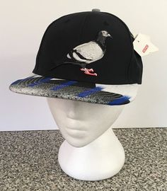 STAPLE Pigeon Embroidered Snap Back Hat Cap Black New NWT  #Staple #SnapBackHat