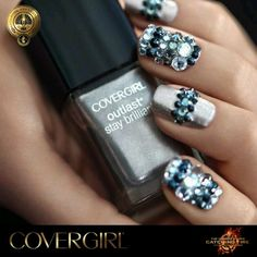 From Cover girl #winter #nail art 2013 #texture on nails and #3dnailart is so in this year for winter!