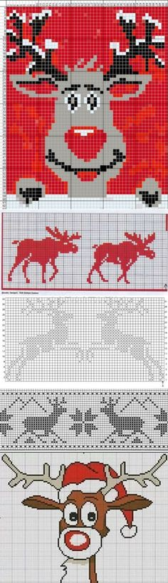 deer Schemes for knitting