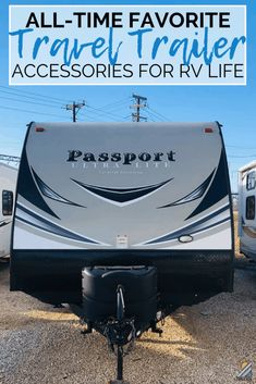 What travel trailer accessories and products do we consider must-haves? Check out our list of some all-time favorites we used while RV camping full time for a year and a half in our Keystone Passport. #rvliving #rvtravel #camping #traveltrailer #musthaves Camping Must Haves, Camping Hacks, New Travel Trailers, Travel Trailer Camping, Best Camping Gear, Truck Camping, Camping Supplies, Diy Camping, Camping Essentials