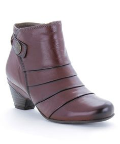 Another great find on #zulily! Brown Rialto Leather Bootie #zulilyfinds