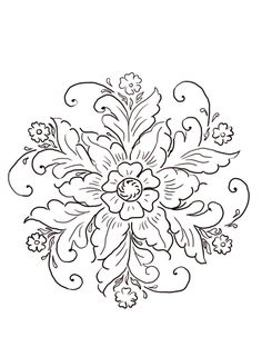 Norwegian Rosemaling coloring page from Norway category. Select from 21274 printable crafts of cartoons, nature, animals, Bible and many more.