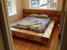 Homemade modern rustic bed