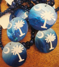 South Carolina Blue Necklace by DeepSouthWelding on Etsy, $10.00