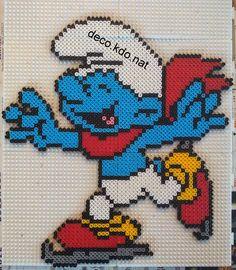 Smurf hama perler beads by Deco.Kdo.Nat