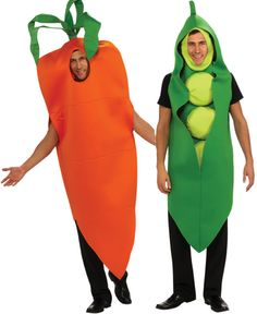 Adult Carrot Pea Pod Funny Mens Costume