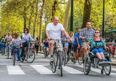 Car-free day in Paris and Brussels – in pictures. The people of the French and Belgian cities enjoy a rare traffic-free day Sustainable Transport, Free Day, Brussels, Cities, Paris, People, Pictures, Cyclists, Dan