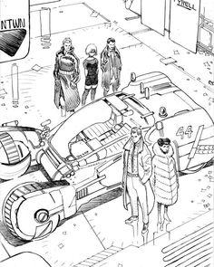 Blade Runner concept by comic artist and illustrator Giannis Milonogiannis. Cyberpunk 2020, Art Pictures, Art Pics, Blade Runner, Comic Artist, Science Fiction, Sci Fi, Nerd, Character Design