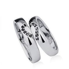 Swarovski Crystal Couples rings Promise 925 Silver