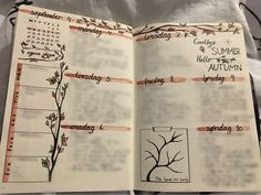 Bullet Journal - Weekly Spread - leaves theme - autumn - fall - September- bujo