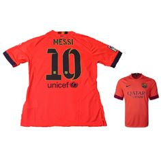 9ba7a5229e8 Nike Youth Barcelona Messi  10 Soccer Jersey (Away 2014 15) Messi Soccer