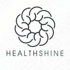 Exclusive Customizable sun Logo For Sale: Health Shine | StockLogos.com