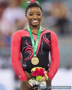 Simone Biles Wins Most World Gold Medals By U.S. Woman - World Artistic Gymnastics Championships in Nanning, China 10/12/14