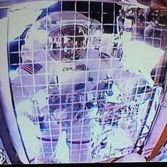 """#Selfie via helmet camera."" #AstroButch. --Astronaut Butch Wilmore from the International Space Station"