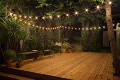 This patio is the perfect setting for an outdoor dance party! @airbnb