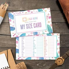 LuLaRoe Boho My Size Card Instant Download Home Office Approved