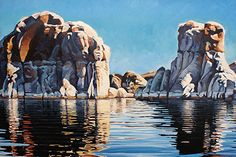 Memories, Oil, 30x40 by Ron Larson Oil ~ 30 x 40, Lake Powell