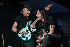 Billy Sheehan and Nuno Bettencourt at the Ultimate Jam Night - Lucky Strike -Hollywood, CA 2015.07.08 | Photo by Kathy Flynn