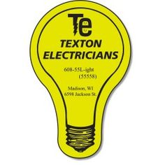 View a larger, more detailed picture of the Flat Flexible Magnet - Light Bulb