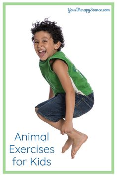 Jump like a frog, roar like a lion, or walk like a porcupine with these fun animal exercises for kids! Physical Activities For Kids, Gross Motor Activities, Animal Action, Kids Moves, Like A Lion, Self Regulation, Physical Therapist, Brain Breaks, Exercise For Kids