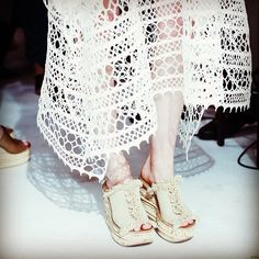 """3,287 Likes, 27 Comments - Chloé (@chloe) on Instagram: """"The #SS14 collection has arrived! Discover layered cork wedges in fringed canvas and pair with a…"""""""