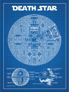 Star Wars Death Star Blue Print