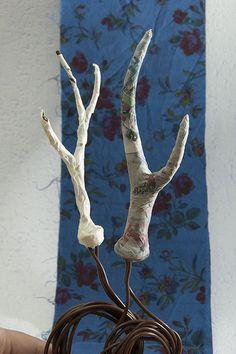 paper mache antlers