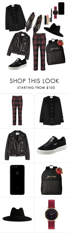 """""""PBR tartan"""" by xxelectre on Polyvore featuring Gucci, Acne Studios, Puma, Betsey Johnson, Yves Saint Laurent, Abbott Lyon, Smith & Cult and Coliàc Martina Grasselli"""
