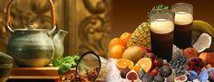 Coffig + herbal teas & fruit juices