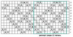 """针织模式: """" 微妙的钻石地毯 """"(图案552) - maomao - 我随心动"""
