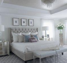 Modern glam bedroom - https://bedroom-design-2017.info/master/modern-glam-bedroom.html. #bedroomdesign2017 #bedroom