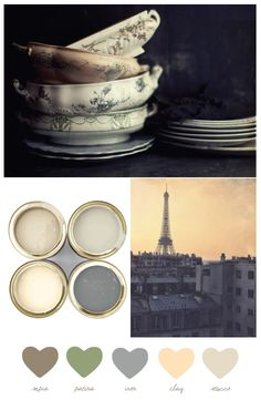 Sepia + patina palette