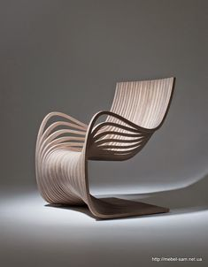 This gracefully curving wooden chair is one of the latest pieces exquisitely crafted by designer Alejandro Estrada. The Pipo Chair, produced for sale by Gu design, Chair with Sexy Curves Constructed Entirely from Two Pieces of Plywood Plywood Furniture, Unique Furniture, Contemporary Furniture, Plywood Chair, Furniture Stores, Funky Furniture, Cheap Furniture, Office Furniture, Bedroom Furniture