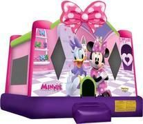Minnie and Daisy now have their very own bounce house! Join Minnie Mouse and Daisy Duck in their beautiful pink and purple bounce house. This bounce house Minnie Mouse Bouncer, Minnie Mouse House, Mickey Mouse Clubhouse, Minnie Mouse Party, Mouse Parties, Fort Collins, Colorado Springs, Bounce House Parties, House Party