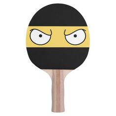 Cartoon Angry Ninja Ping Pong Paddle