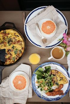 3 easy menu items for Easter (sweet potato + spinach frittata, brown sugar bacon, spring salad)
